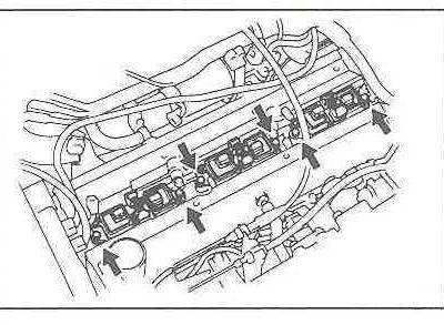 Spark plug replacement Toyota Supra MK4